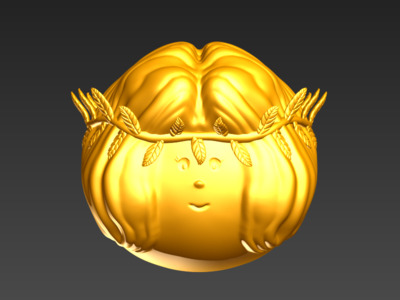 3D蛋系列(十二星座-处女)-3d打印模型