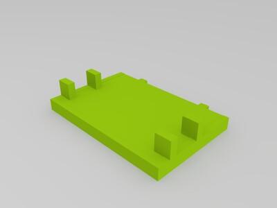 兔子 可调角度 手机架-3d打印模型
