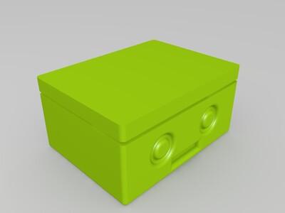 拼插可打字的印章小人-3d打印模型