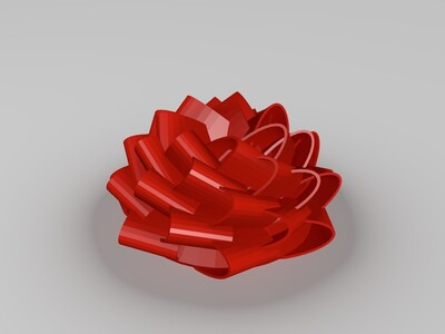 礼物上的花-3d打印模型