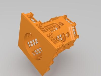 城堡笔筒-3d打印模型