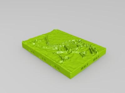 迅猛龙化石-3d打印模型
