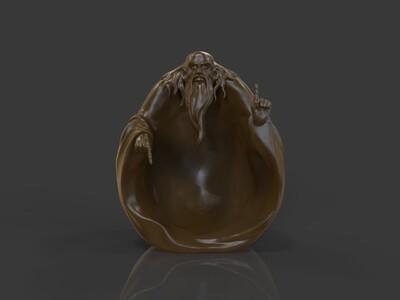 ZB精雕 老子 雕塑-3d打印模型
