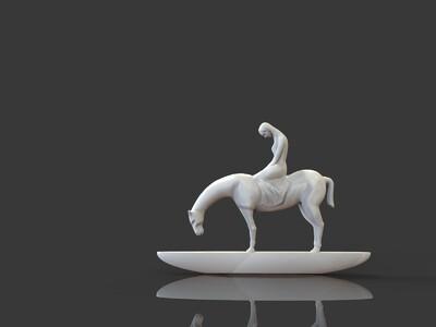 ZB精雕 马和少女 行韵 雕塑-3d打印模型