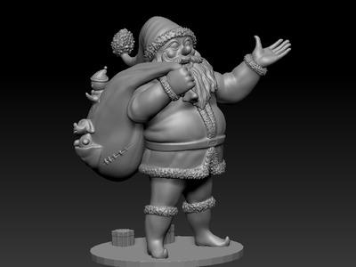 圣诞老人-3d打印模型