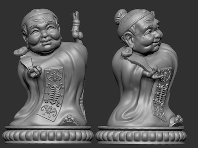 zb精雕 寿婆-3d打印模型
