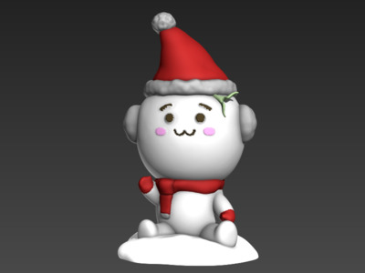 长草团子(冰天雪地)-3d打印模型