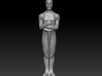 小金人-3d打印模型