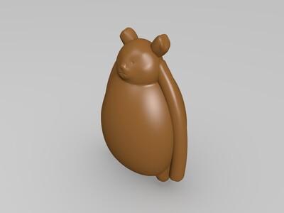 熊-3d打印模型