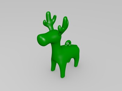 驯鹿-3d打印模型