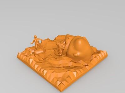 鲨鱼出没-3d打印模型