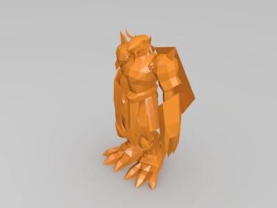 数码宝究级体-3d打印模型