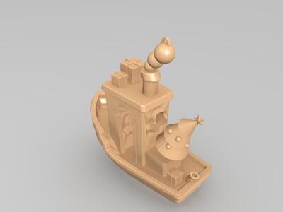 圣诞小船-3d打印模型