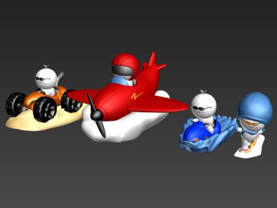 长草团子(运动包)-3d打印模型