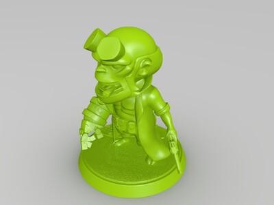 Q版地狱男爵-3d打印模型