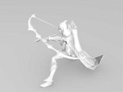 寒冰射手 艾希-3d打印模型