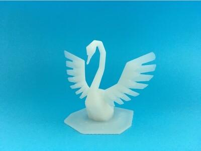 简模 天鹅摆件-3d打印模型