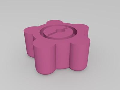 洗衣机旋钮-3d打印模型