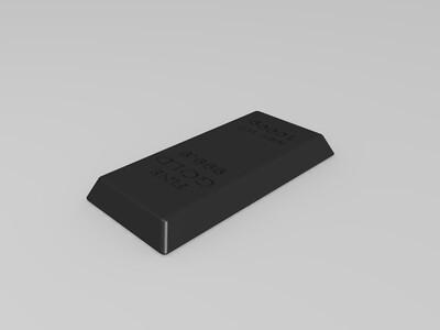 1000g金砖-3d打印模型