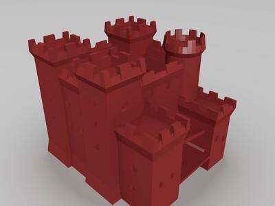 帝国时代2城堡-3d打印模型