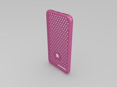 """iPhone 7 Plus 手机壳""""Dotty""""-3d打印模型"""
