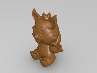 皇冠狐狸(吊坠+摆件)-3d打印模型