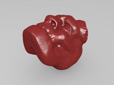地狱男爵头像-3d打印模型