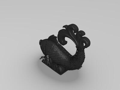 大鲤鱼-3d打印模型