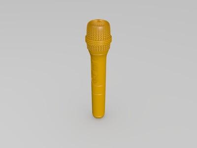 麦克风-3d打印模型