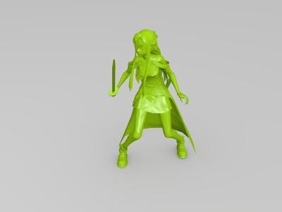 结城明日奈-3d打印模型