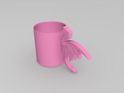 龙把手杯子-3d打印模型