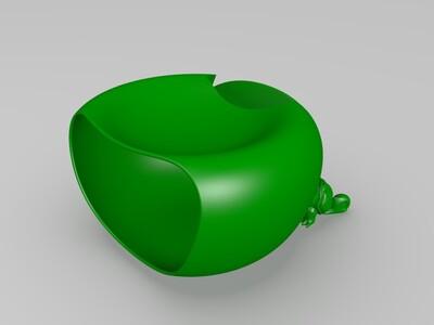 手机支架垃圾桶-3d打印模型
