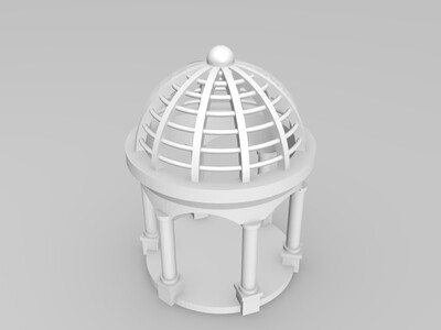 欧式圆亭-3d打印模型