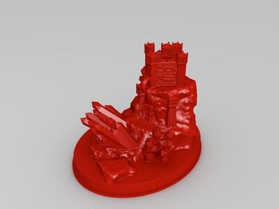 棱镜岛-3d打印模型