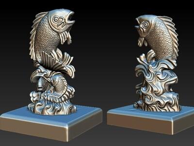 fish鲤鱼-3d打印模型