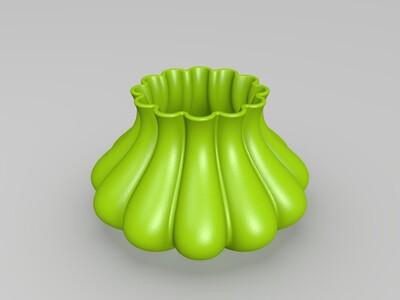 花环花盆-3d打印模型
