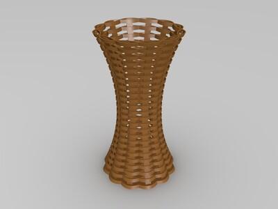 编织花篮-3d打印模型