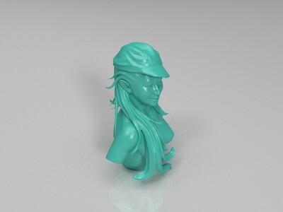 美女塑像一枚-3d打印模型