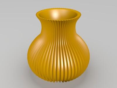 纹理花瓶-3d打印模型