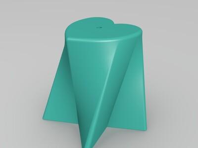 心星花盆-3d打印模型