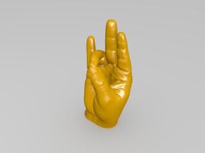 手势-3d打印模型