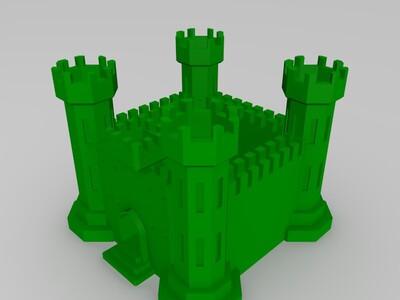 城堡-3d打印模型
