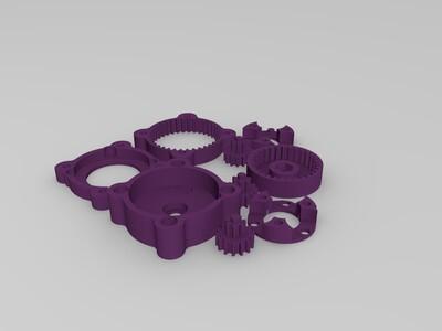 行星齿减速机-3d打印模型