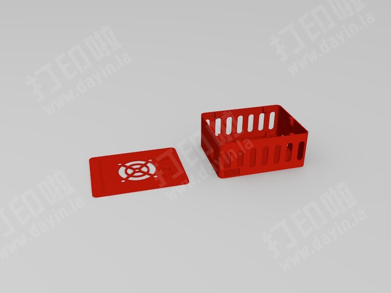 开关电源安全接线盒-3d打印模型