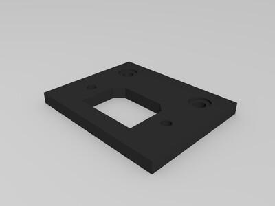 3D打印机 电源按键  电源插孔-3d打印模型