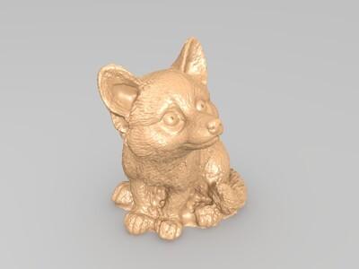 福克斯猫-3d打印模型