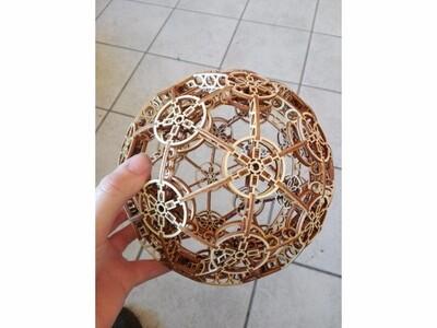 艺术镂空球 拼块-3d打印模型