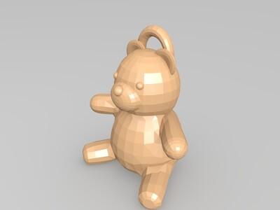 小熊泰迪-3d打印模型