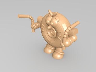 甜甜圈人偶-3d打印模型