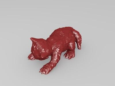 爬墙猫装饰-3d打印模型